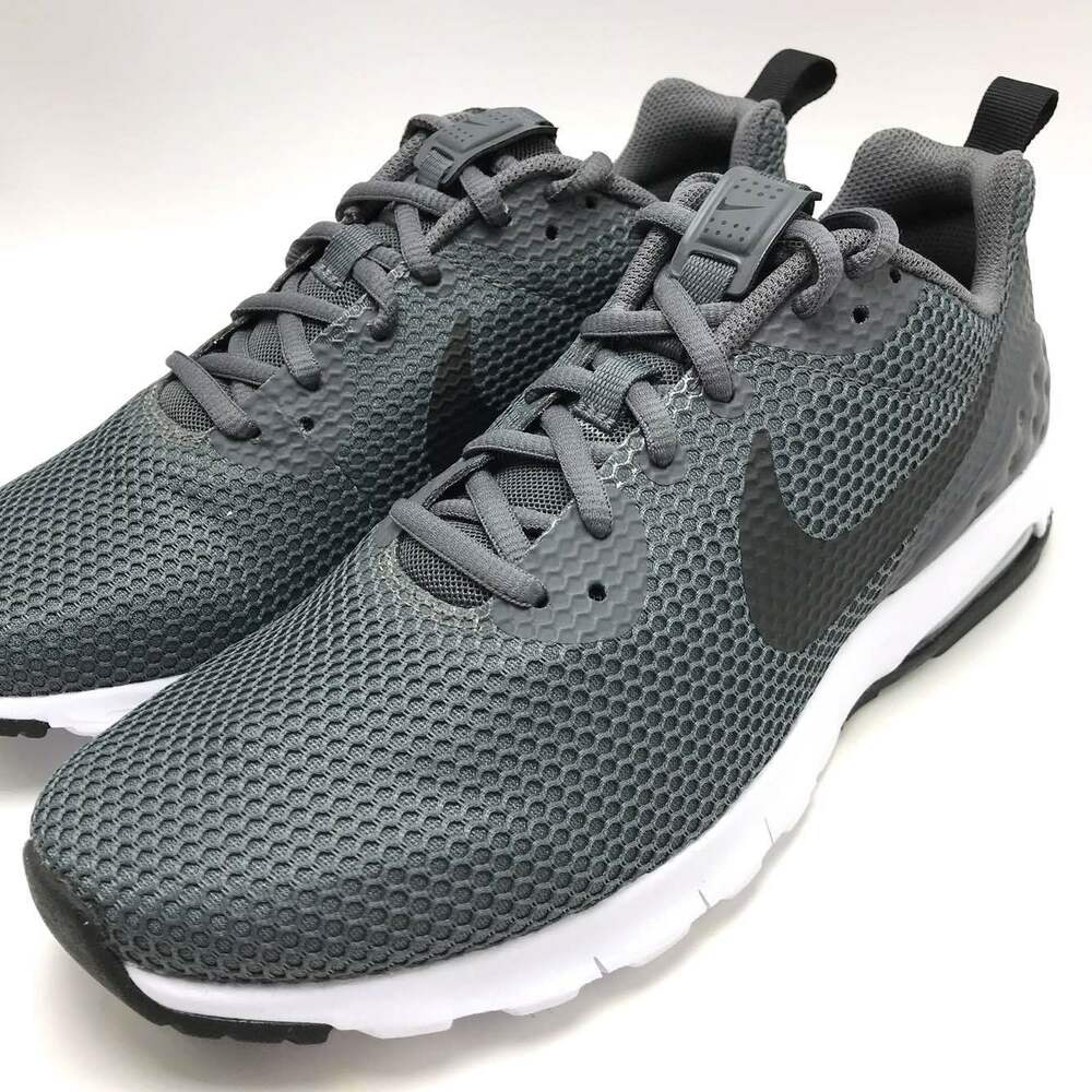 brand new 4a229 0b8cc Details about Nike Air Max Motion LW SE Men s Running Shoes Dark Grey Black- White 844836-003