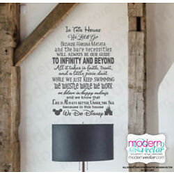 We Do Disney Quote Lettering Vinyl Wall Decal Sticker