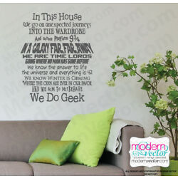We Do Geek Quote Lettering Vinyl Wall Decal Sticker