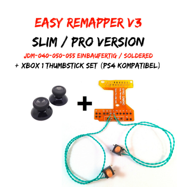PS4 Remapper V3 Slim Pro Scuf Mod Kit + Xbox 1 Sticks Einbaufertig / Soldered