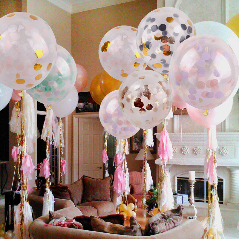 Confetti Balloons Romantic Wedding Home Decor Baby Shower Birthday