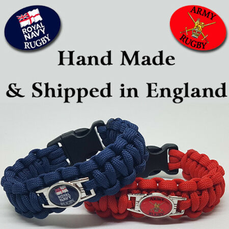 img-Army Navy Rugby Badged Survival Bracelet Tactical Edge.