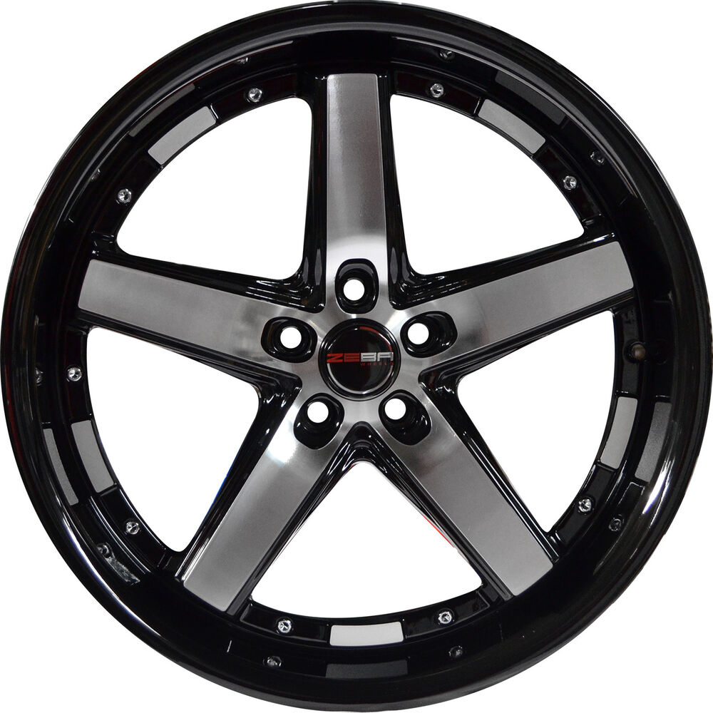 4 GWG DRIFT 20 Inch Black Machined Rims Fits LAND ROVER