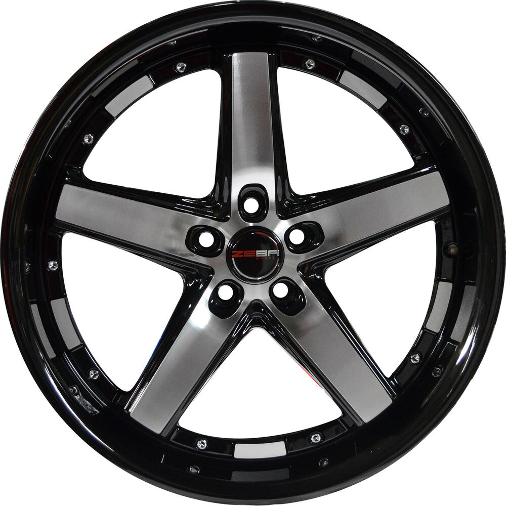 4 GWG DRIFT 20 Inch Black Machined Rims Fits ACURA TL 6