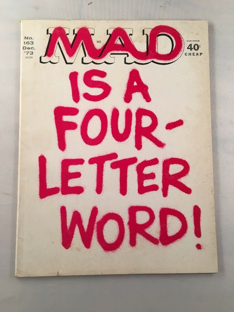 Mad Magazine 163 December 1973 Is A Four Letter Word Front Cover