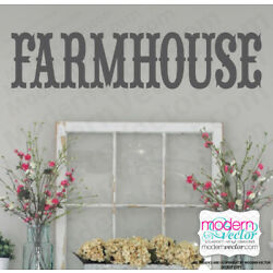 Farmhouse Vinyl Wall Decal Home Decor Sticker Country Theme Southern Style