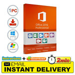 Microsoft Office 2016 PRO PLUS 32 & 64 BIT - INSTANT DELIVERY! LICENCE KEY