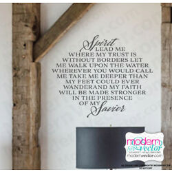 Spirit Lead me My Savior Quote Lettering Vinyl Wall Decal Sticker Religious
