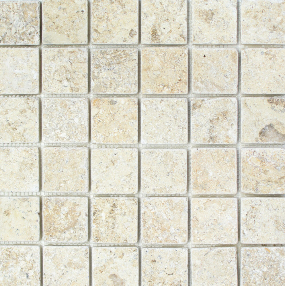 Details About Tumbled Jerum Light Gold Limestone Travertine Mosaic Tiles 48 X X10 Mm