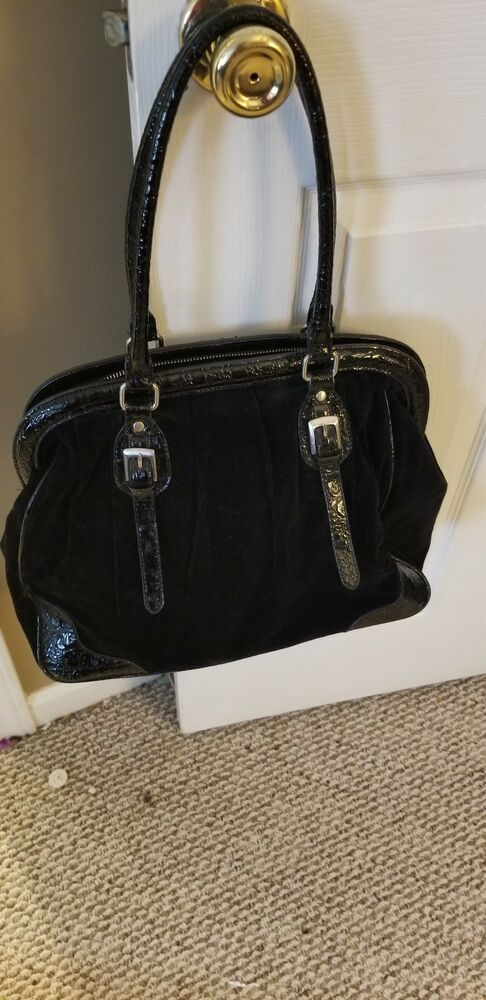 Details about The Limited Black Fabric Multi-Compartment Tote Bag w Leather  Trim c4cfb5a7d9625