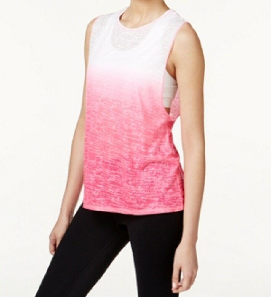 76863e57036dde Details about Ideology New Women s Dip-Dyed Burnout Tank Top
