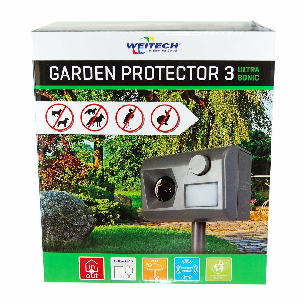 weitech garden protector 3 ultraschall abwehr katzen hunde. Black Bedroom Furniture Sets. Home Design Ideas