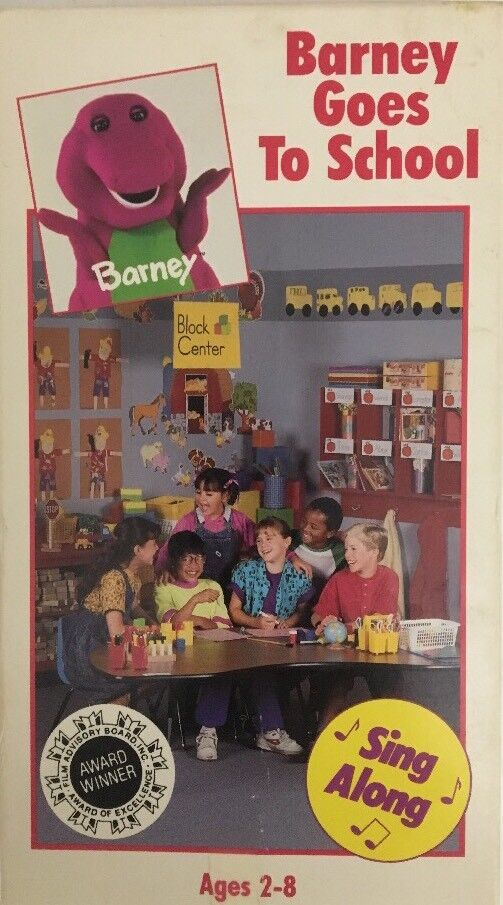 Barney-Barney Goes to School VHS-TESTED-RARE VINTAGE ...