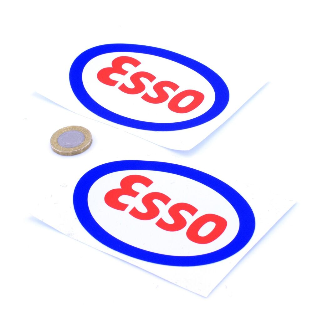 Details about esso stickers classic car motorcycle racing sticker vinyl decals 100mm x2