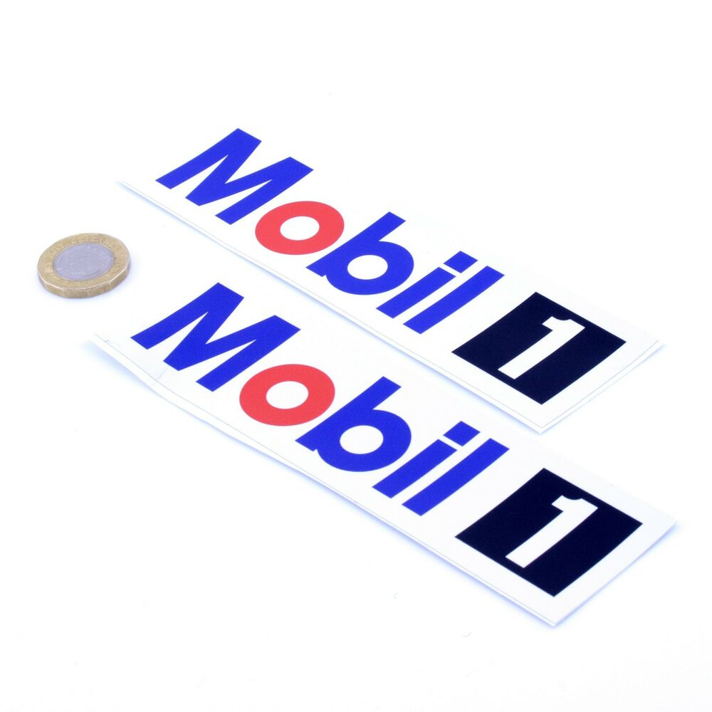 Details about mobil 1 oil stickers classic car motorbike racing vinyl decals 150mm x2