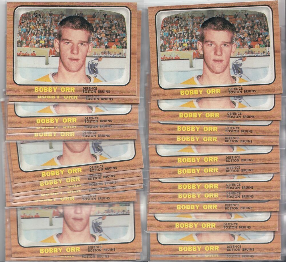 "1966-67 Topps Hockey # 35 Bobby Orr RC Rookie Reprint ""25"