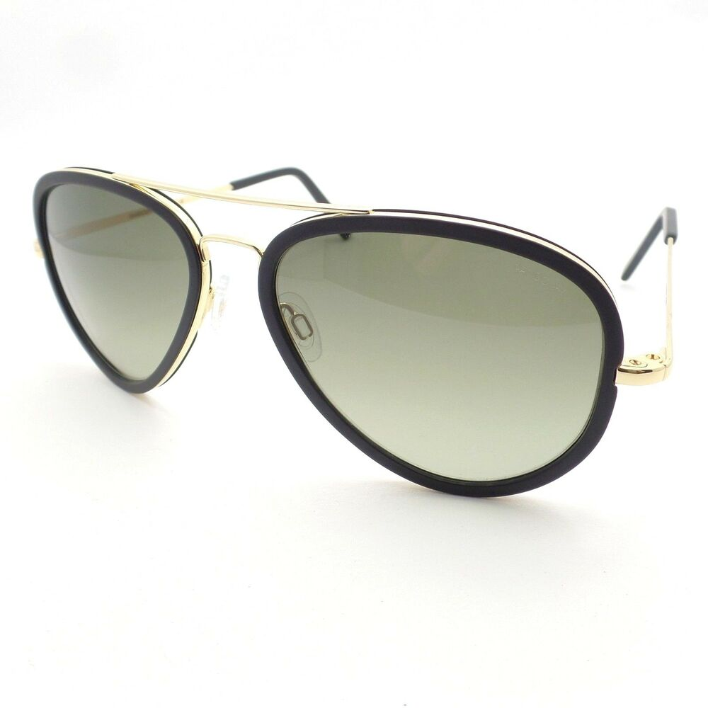 3cc3c3859a8a Details about Randolph Concorde Fusion Black Gold Green Fade 61mm USA New  Sunglasses