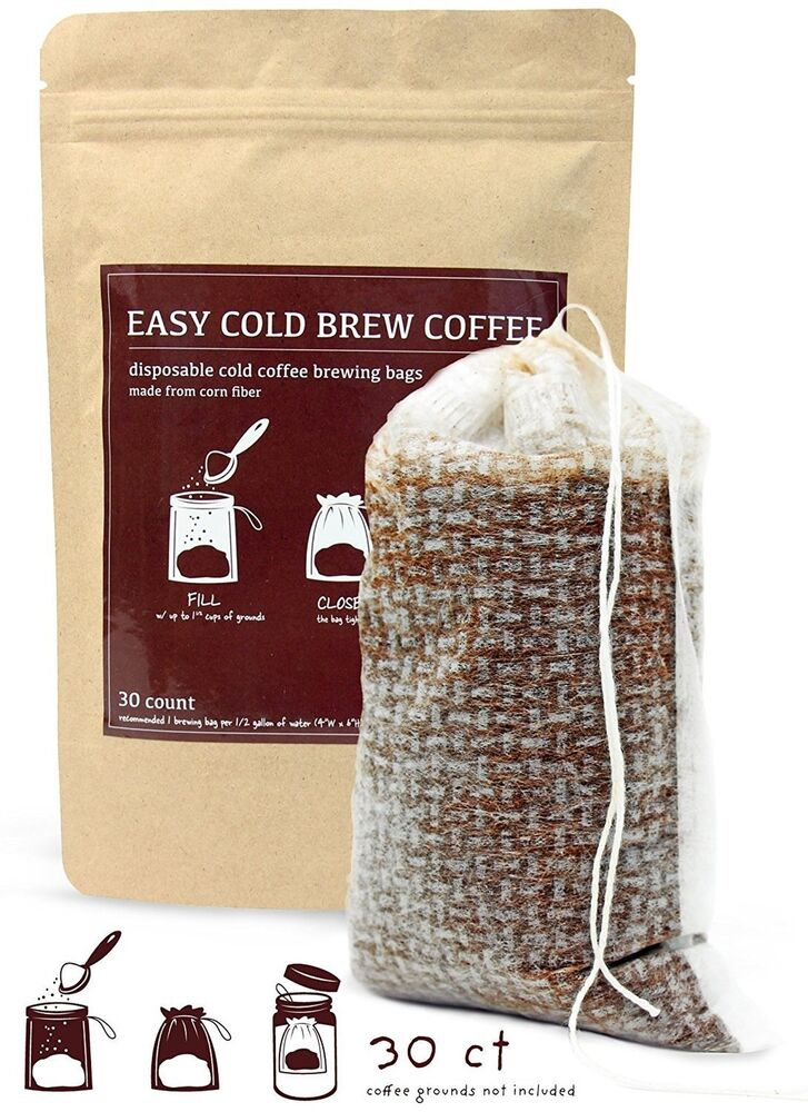 No Mess Cold Brew Coffee Filters Easy Single Use Disposable