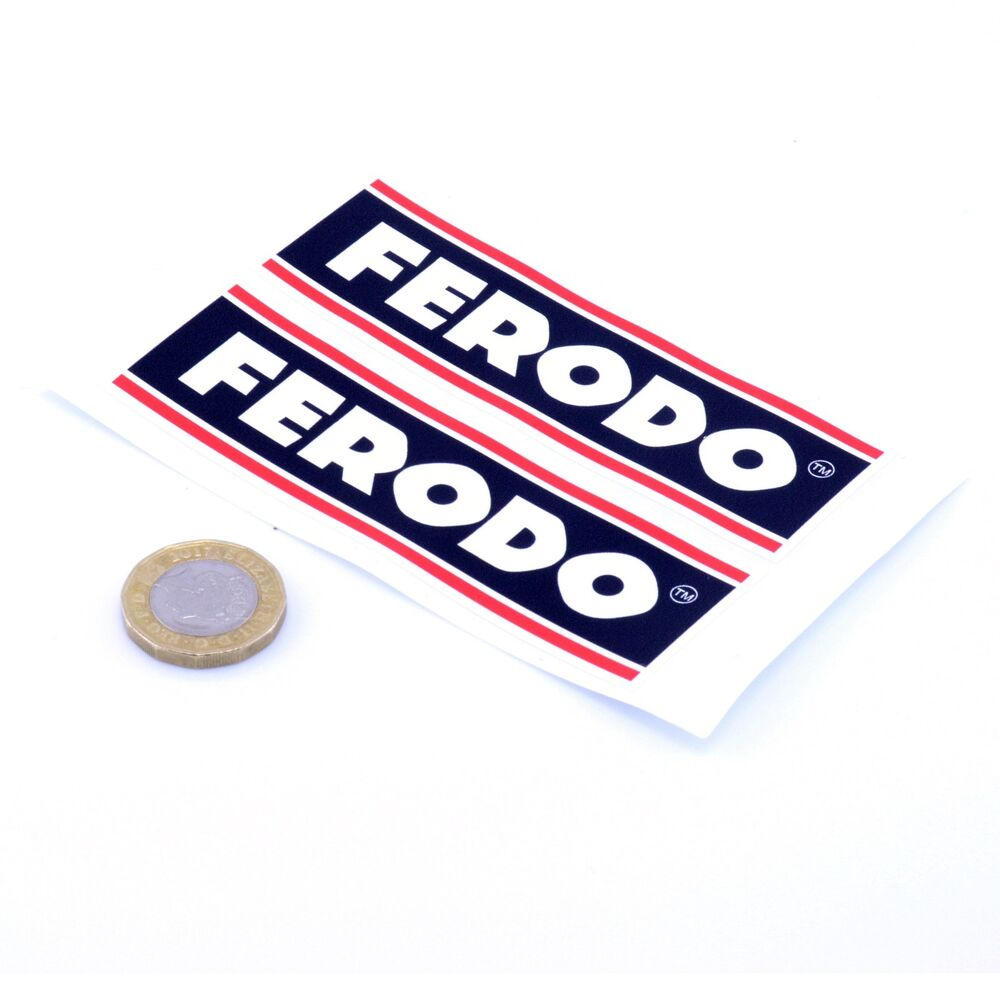 Details about ferodo brakes stickers classic car motorbike racing vinyl decals 100mm x2