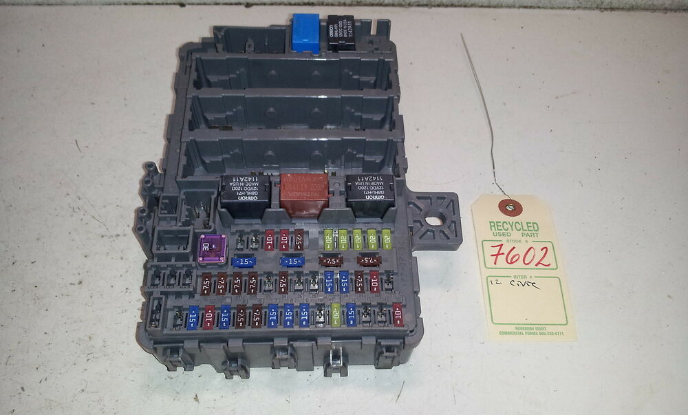 2012 honda civic under dash fuse box oem tr6-a310 #7602 | ebay 2012 honda civic fuse box 95 honda civic fuse box