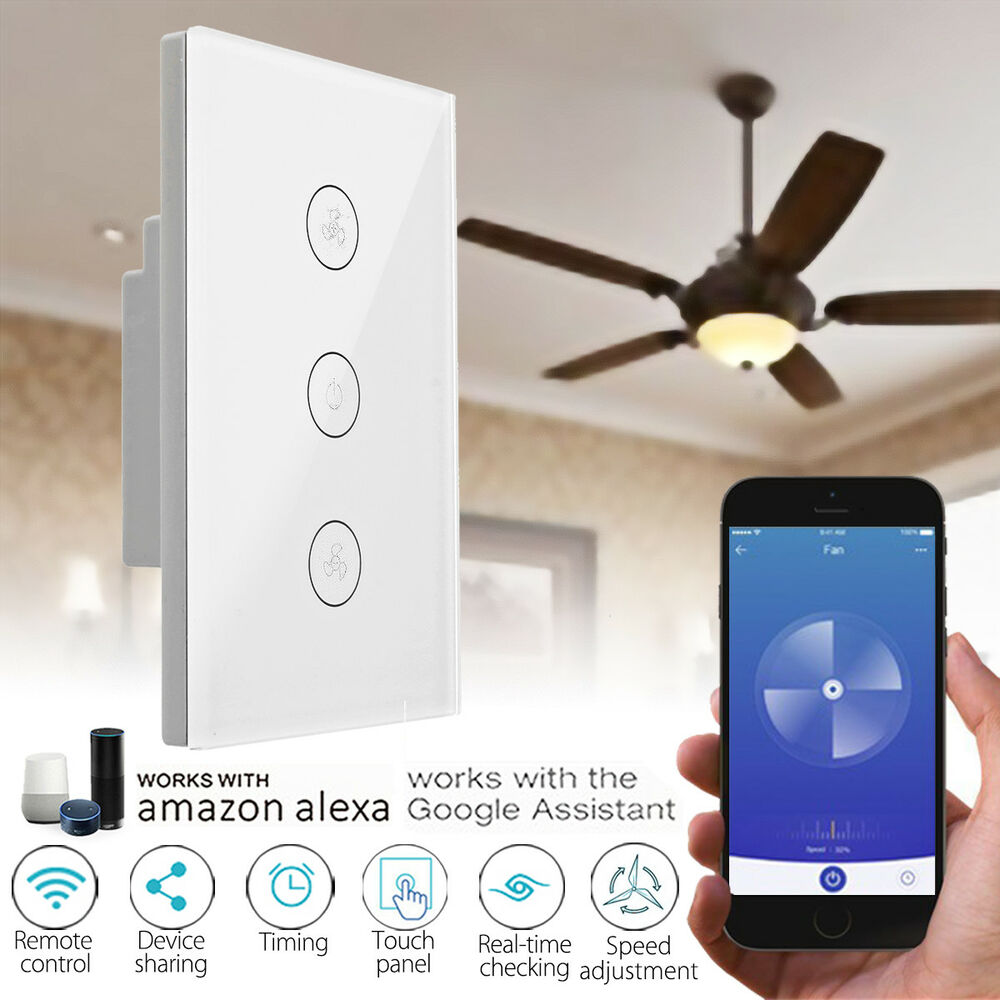 Wifi 4g Smart Mobile Ceiling Fan Wall Switch Touch Panel For Alexa Google Home 6285129488685 Ebay