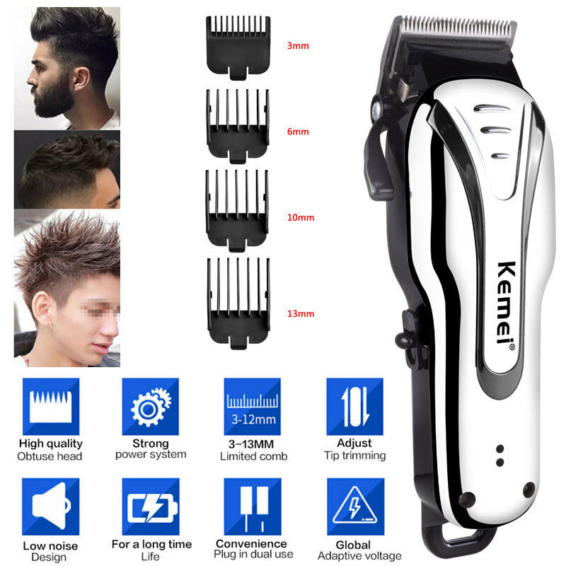 Rechargeable Electric Hair Trimmer Clipper Shaver Barber Haircut