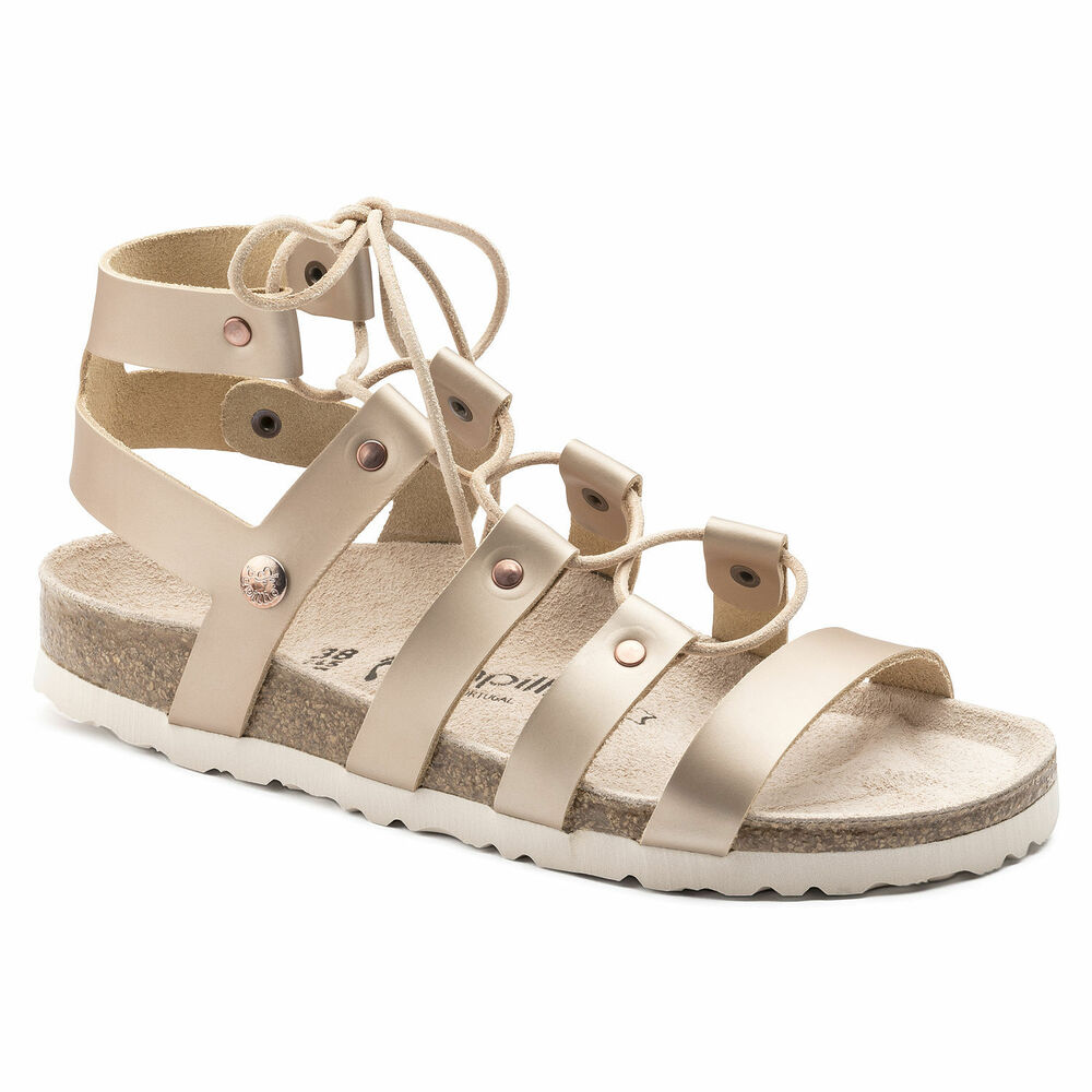 efd1430f70f1 Details about SPECIAL (WAS AU 169) Papillio by Birkenstock CLEO Leather Frosted  Metallic Rose