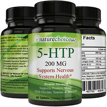 5-HTP 200 MG Stress Relief & Anti Anxiety Supplement - 100% All Natural, Non-GMO
