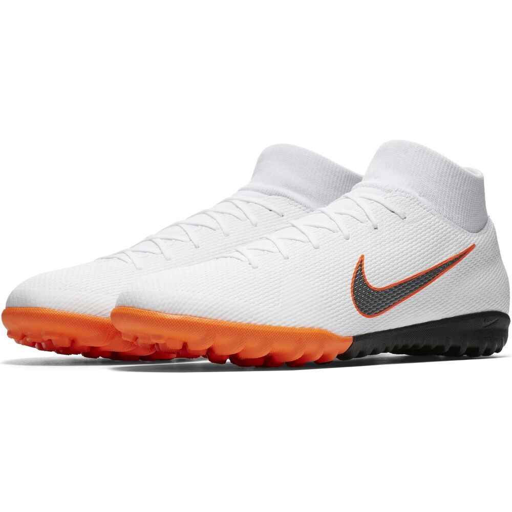 97e4c3da9f610 Details about Nike Mercurial SuperflyX VI TF Turf 2018 DF Academy Soccer  Shoes White Orange