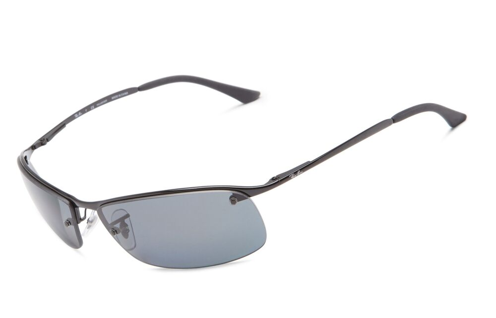 2dfa08bf6a Details about Ray-Ban Men s Polarized Sunglasses RB3183 63 mm Black (002 81  Black)