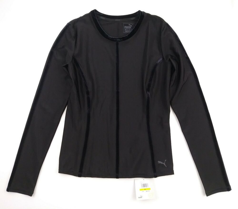 8943a8bb6eb8 Details about Puma Dry Cell Women s Nocturnal Velvet Long Sleeve Athletic  Shirt Size M NWT