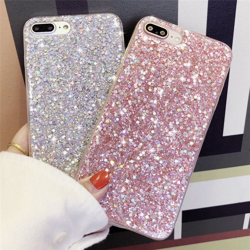 For IPhone 6 6s 7 8 Plus X Bling Glitter Phone Case Sparkle Designer ... 3aacc2425e