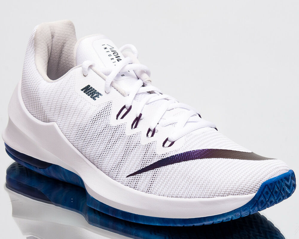 uk availability f1869 7aeb4 Details about Nike Air Max Infuriate II Premium Mens New Low Basketball  Shoes White AJ1933-140