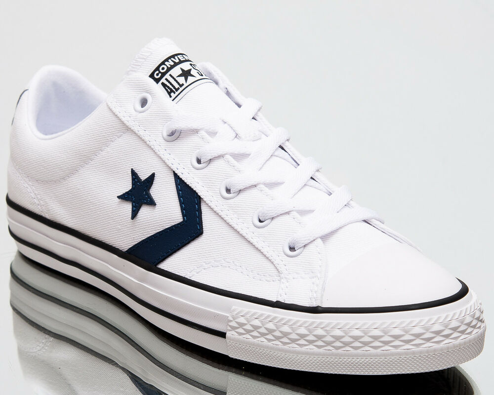 3f67603fd0f72 Details about Converse Star Player Ox Summer Twill Men Shoes Mens Sneakers  White Navy 160558C