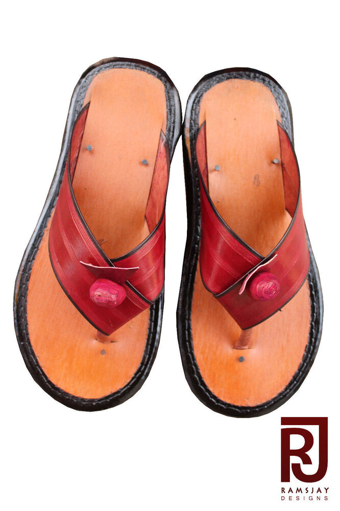 27720d3cb Details about Traditional Men s Slippers Ghanaian Handmade Leather Slippers  Men s Shoe Sandals