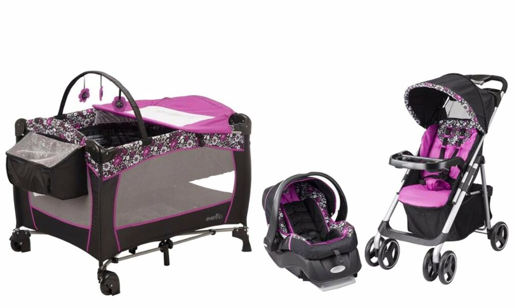Evenflo Baby Stroller with Car Seat Infant Playard Travel ...