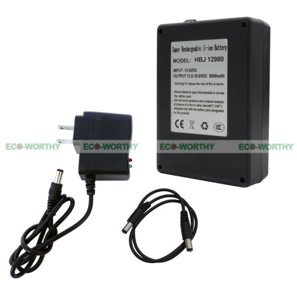 DC 12V 9800mAh Portable Rechargeable Lithium-ion Battery Pack for Loudspeaker US