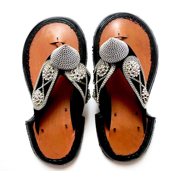 8c87160fb Details about Men s Traditional Handmade Leather Slippers Ghanaian Men s  Shoe Sandals Slipper