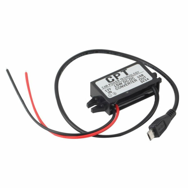 Car Charger DC Converter Module 12V To 5V 3A 15W with Micro USB Cable Ne DP