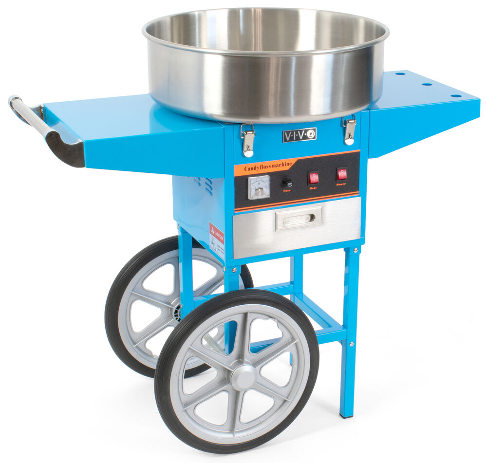 VIVO Blue Electric Commercial Cotton Candy Machine Stand ...
