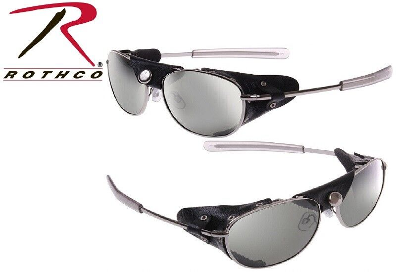 Details about Aviator Sunglasses With Wind Guards Chrome Tactical 20380  Rothco be0ea9ac92c