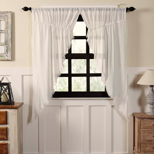 Details About Cloth Antique White Cotton Country Cottage Window Prairie Curtains