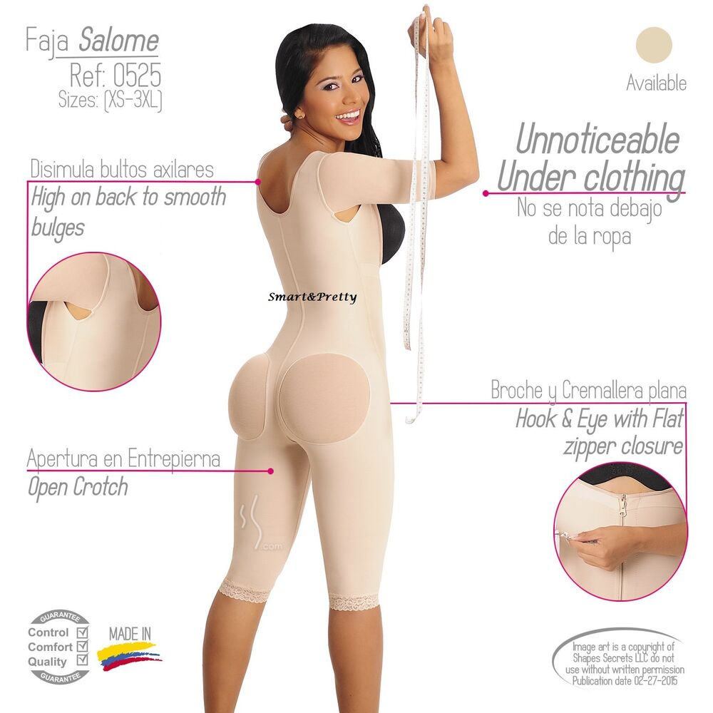 cc2f212e66 Details about 100% COLOMBIAN ORIG GIRDLE FULL BODY SLEEVES COVER UPPER ARMS  FAJAS SALOME 0525
