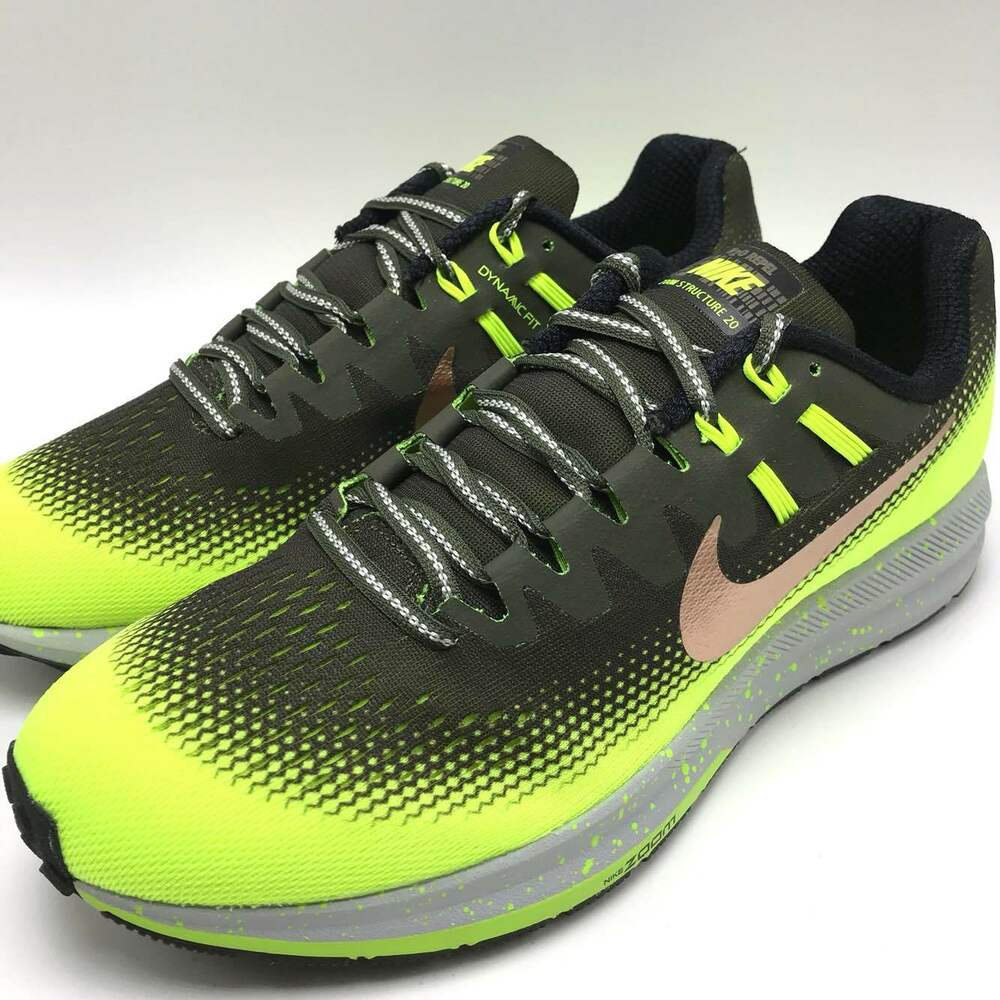 outlet store da2a0 a5b6c Details about Nike Air Zoom Structure 20 Men s Running Cargo Khaki MTLC Red  Bronze 849581-300