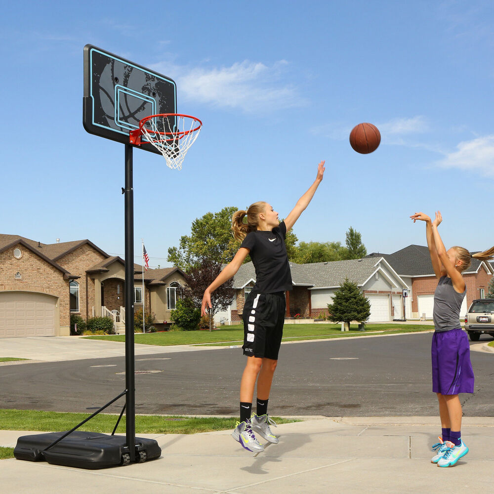 Portable Basketball Hoop Goal Adjustable 44-Inch Backboard ...