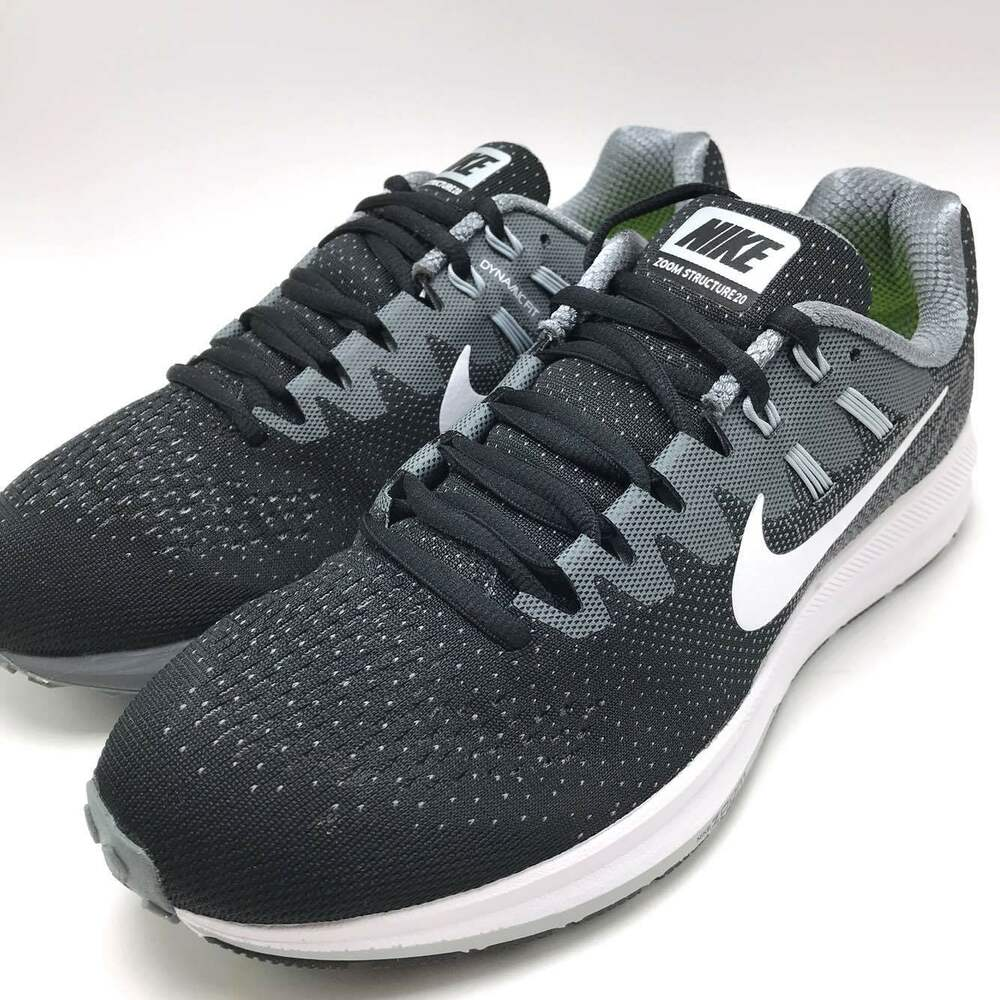 newest collection 3cc1a 3b126 Details about Nike Air Zoom Structure 20 Men s Running Shoes Black White-Cool  Grey 849576-003