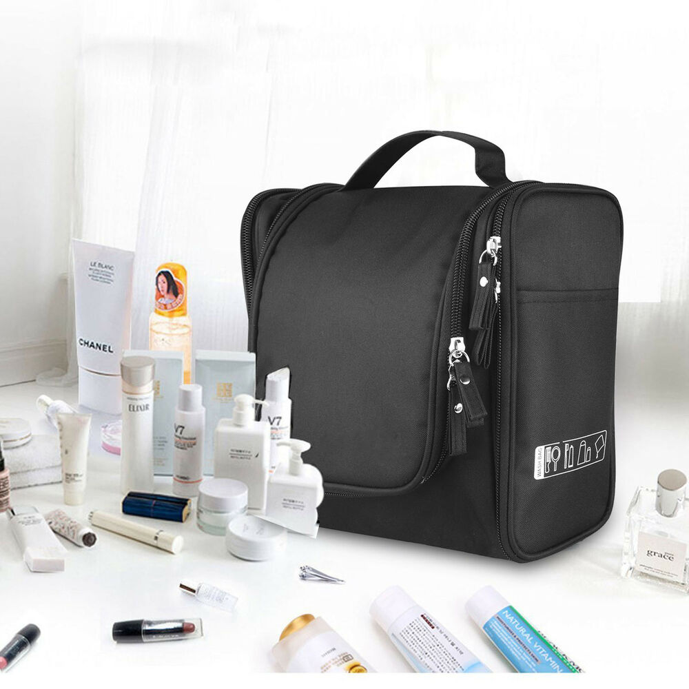 2ee85d6416 Details about Travel Hanging Toiletry Bag Large Kit Folding Makeup  Organizer for Men   Women