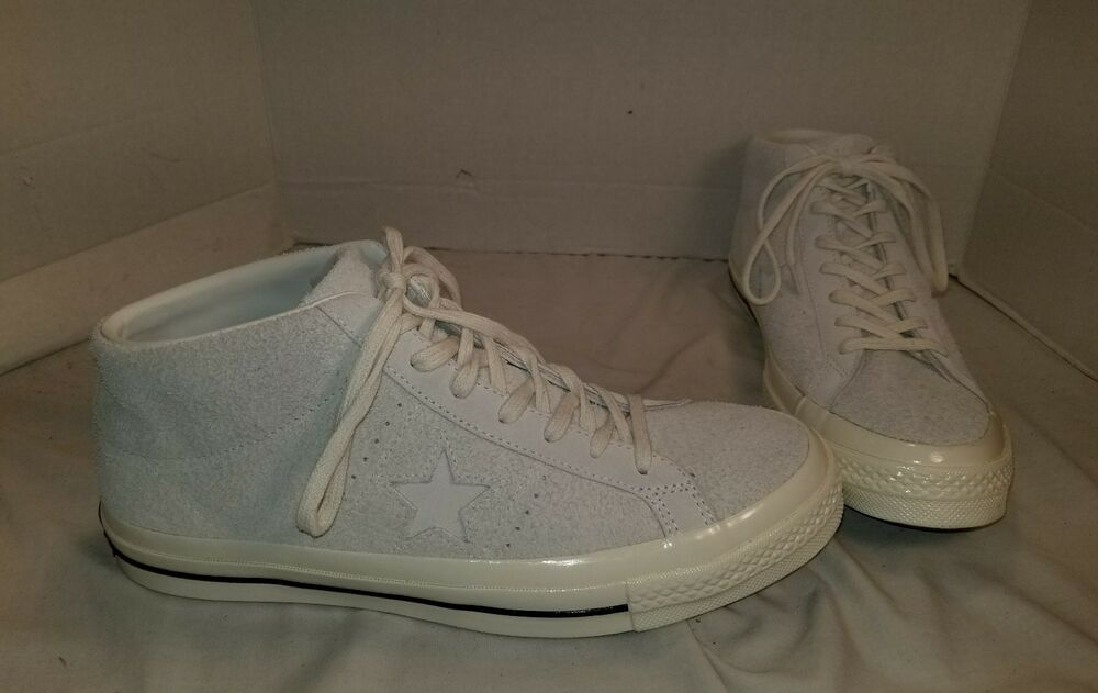 NEW CONVERSE ONE STAR OFF WHITE SUEDE MID TOP SNEAKERS SIZE MEN S 11 EUR 45    eBay c4fd266bb37