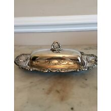 Old Master Silverplate Covered Butter Dish Vintage