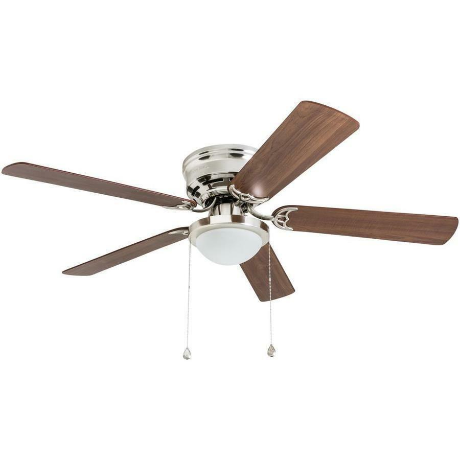 Harbor Breeze Armitage 52 In Brushed Nickel Indoor Ceiling Fan With Light Kit 671961413910